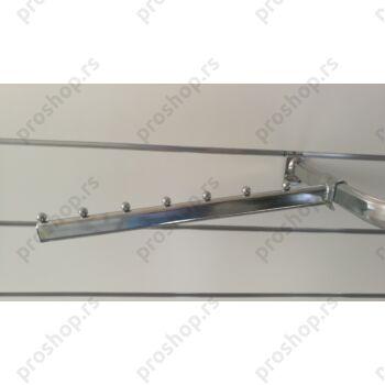 Kosi nosač za vešalice za ovalnu cev, sa 7 štiftova