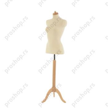 Krojačka lutka 1/2 tela, ženska, na drvenom tronošcu, VIŠE BOJA