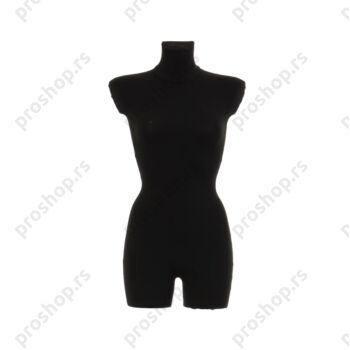 Krojačka lutka 3/4 tela, ženska, crna