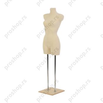 Krojačka lutka 3/4 tela, ženska, na dvostrukoj hromiranoj nozi i sa drvenom stopom, VIŠE BOJA