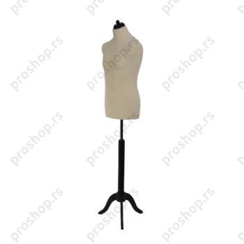 Krojačka lutka, MUŠKA, 50, svetlo smeđa, na crnom drvenom tronošcu