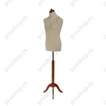 Krojačka lutka, MUŠKA, 50, svetlo smeđa, na mahagoni drvenom tronošcu