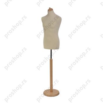 Krojačka lutka, MUŠKA, 50, na okrugloj drvenoj stopi, VIŠE BOJA