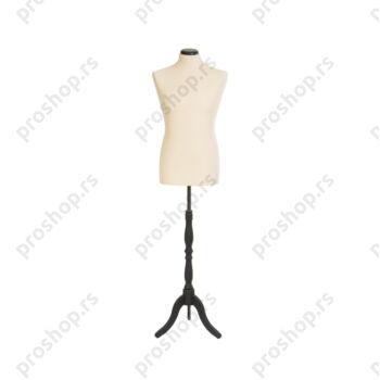 Krojačka lutka, MUŠKA, 48/50, svetlo smeđa, na crnom drvenom tronošcu