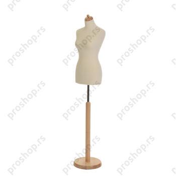 Krojačka lutka, ženska, 34, na drvenoj okrugloj stopi, VIŠE BOJA
