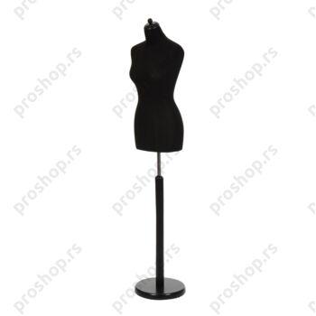 Krojačka lutka, ženska, 36-38, crna, na crnoj okrugloj drvenoj stopi