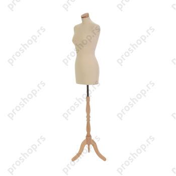 Krojačka lutka, ŽENSKA, 38, na drvenom tronošcu, VIŠE BOJA