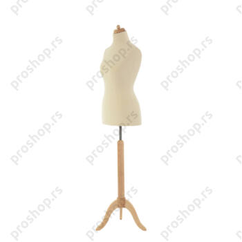 Krojačka lutka, ženska, 42, na drvenom tronošcu, VIŠE BOJA