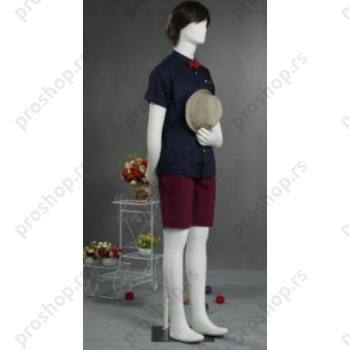 Fleksibilna muška izložbena lutka, bela