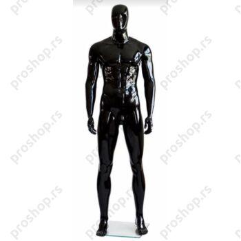 MGM-01 kompletna muška izložbena lutka sa apstraktnom glavom, crna