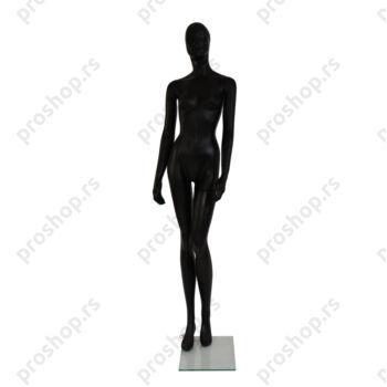GISELLE kompletna izložbena lutka, ŽENSKA, CRNA, stilizovana glava
