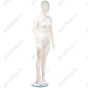 Kompletna izložbena lutka sa apstraktnom glavom, ŽENSKA, bela