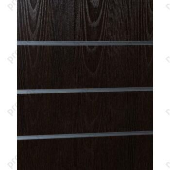 MDF panel sa ALU šinama na razmaku od 10 cm, 120x240, WENGE