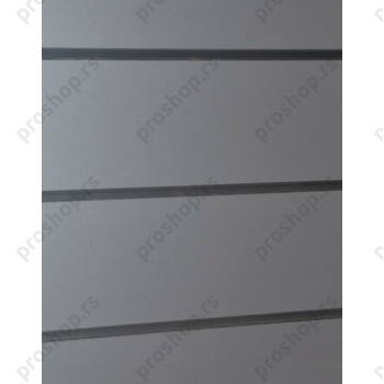 MDF panel sa žljebovima na razmaku od 15 cm, 120x240, SREBRNA