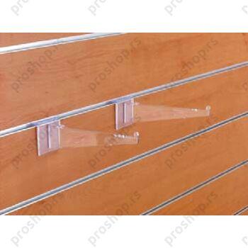Nosač police od pleksiglasa, ravni, 300 mm