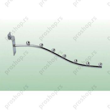Savijeni nosač za vešalice, sa 7 štiftova (300 mm)