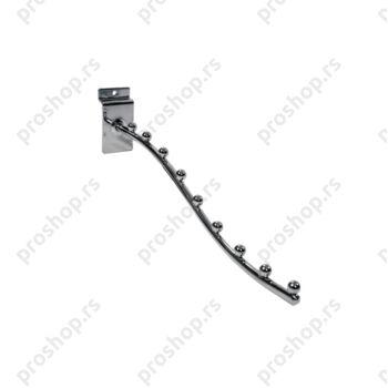 Savijeni nosač za vešalice, sa 9 štiftova (400 mm)