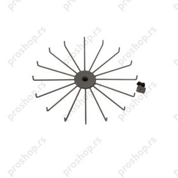 Okretni deo stalka za ključeve, jedan nivo, 16 krakova, SREBRNI