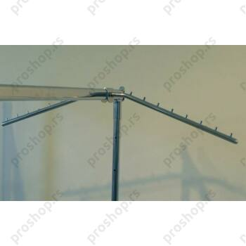 Dvostruki krak za štendere od ovalne cevi, 400 mm