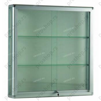 Zidna vitrina sa aluminijumskim profilima, 1000x250x1000, sa rasvetom