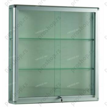 Zidna vitrina sa aluminijumskim profilima, 1000x250x1000, bez rasvete