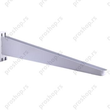 Metalna dvoredna konzola, 32 cm, BELA