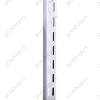 Metalna dvoredna zidna šina, L-160 cm, BELA