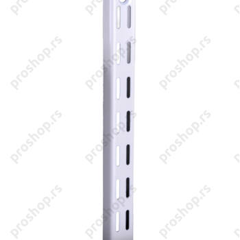 Metalna dvoredna zidna šina, L-192 cm, BELA