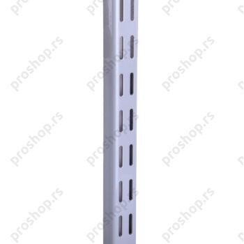 Metalna dvoredna zidna šina, L-64 cm, SREBRNA