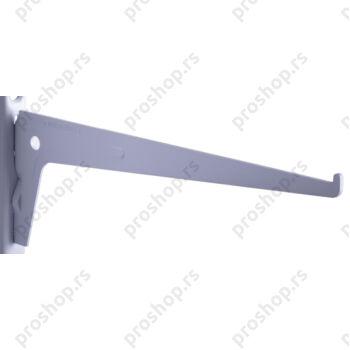 Metalna jednoredna konzola 25 cm, BELA