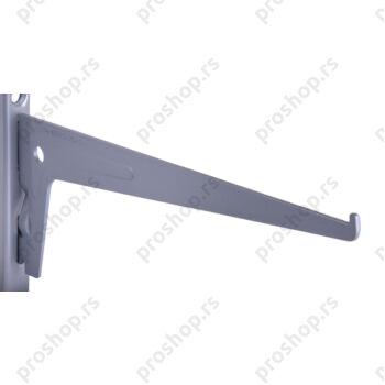 Metalna jednoredna konzola 25 cm, SREBRNA