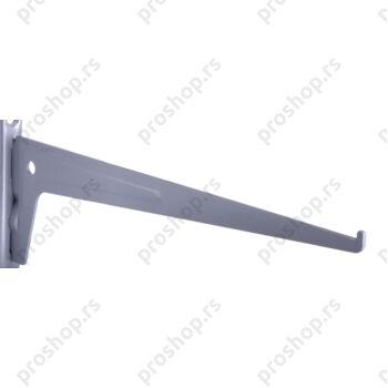 Metalna jednoredna konzola 30 cm, SREBRNA