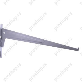 Metalna jednoredna konzola 40 cm, SREBRNA