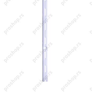 Metalna jednoredna šina, L- 100 cm, BELA